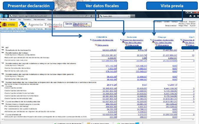 Imagen de cómo será la navegación por la herramienta Renta Web.