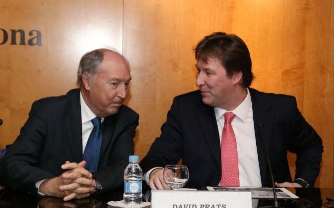El presidente de Borges, José Pont, y el consejero delegado de Bain,...