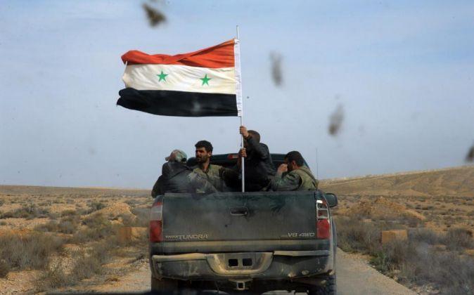 Tropas del régimen sirio avanzan en provincia de Homs. La guerra de...