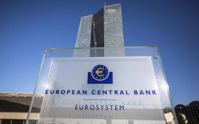 Vista de la sede del Banco Central Europeo (BCE) en Fráncfort