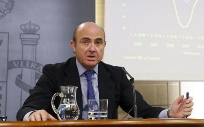 El ministro de Economía Luis de Guindos.