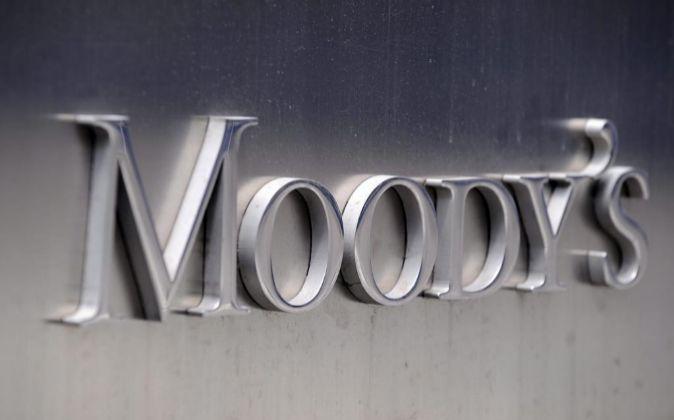 Imágen corporativa de Moody's en las oficinas centrales de la...