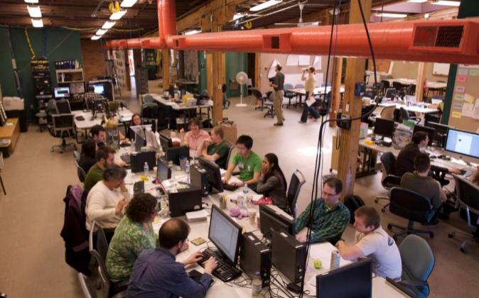 Una imagen de Menlo Innovations, donde las contrataciones se votan...