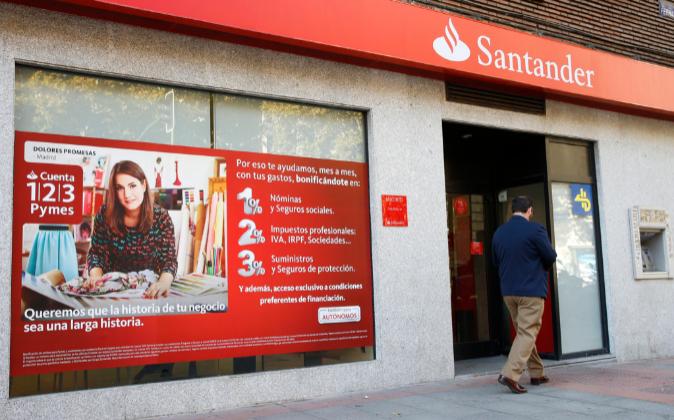 Oficina del Banco Santander.