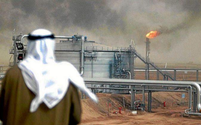 Imagen de instalaciones petrolíferas en Arabia Saudí
