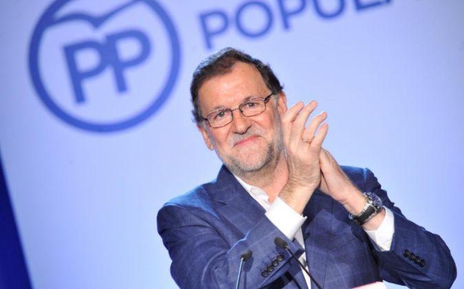 El presidente del Gobierno en funciones y del PP Mariano Rajoy.