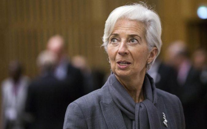 La directora del Fondo Monetario Internacional Christine Lagarde.