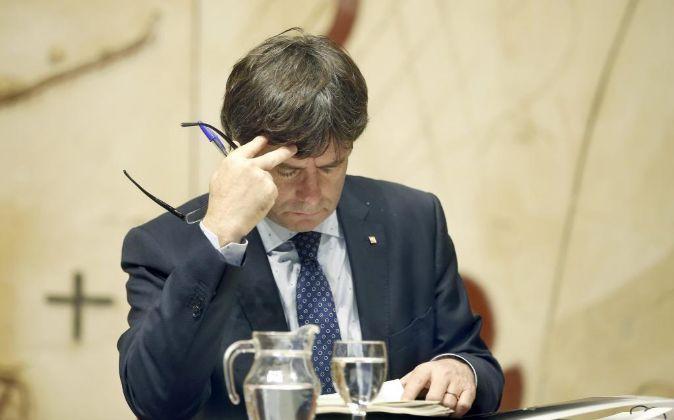 El presidente de la Generalitat de Cataluña, Carles Puigdemont.