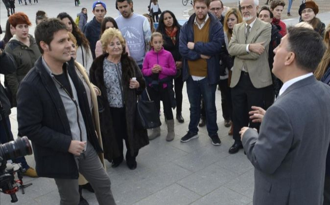 Jesús Cintora, en su programa 'Cintora a pie de calle'