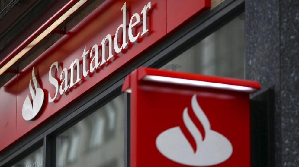 Logotipo de una entidad de Banco Santander en Londres