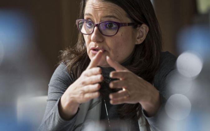 La vicepresidenta del Gobierno valenciano y coportavoz de Compromís,...