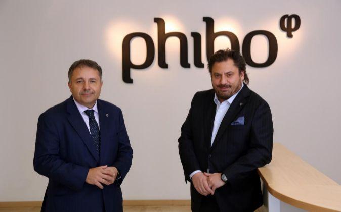 Los propietarios de Phibo, Juan Carlos García Sabán y Miguel Ángel...