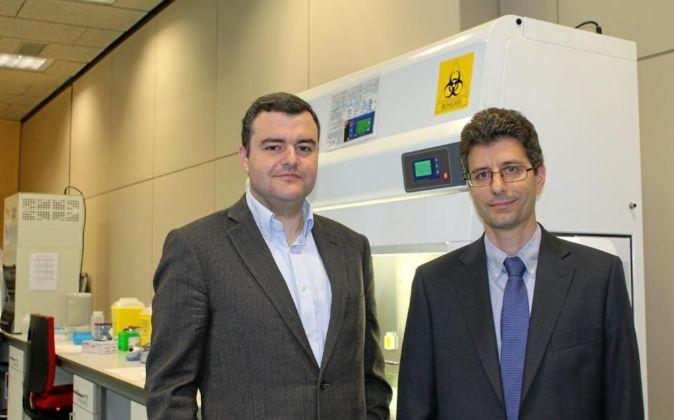 Los cofundadores de Stat-Diagnostica, Jordi Carrera y Rafel Bru.