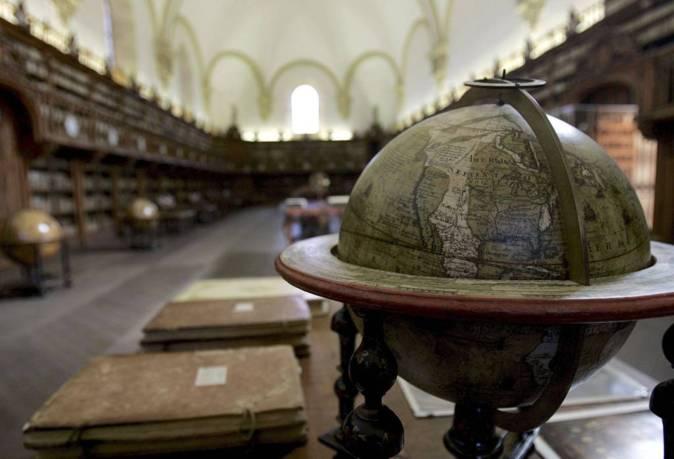 Imagen de la biblioteca antigua de la Universidad de Salamanca.