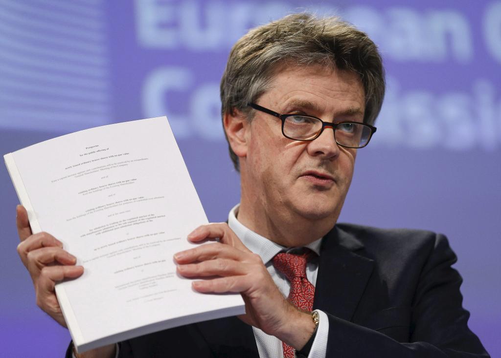 El comisario europeo de Estabilidad Financiera, Servicios Financieros...