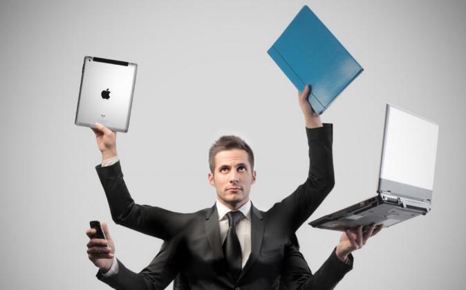 trabajar con el móvil