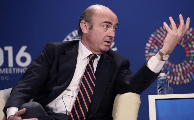 l ministro de Economía y Competitividad de España, Luis de Guindos.