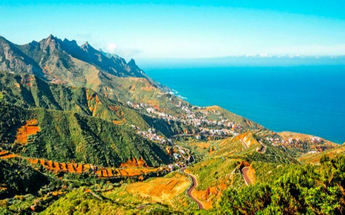 El Macizo de Anaga (Tenerife) se extende por una superficie de mas de...