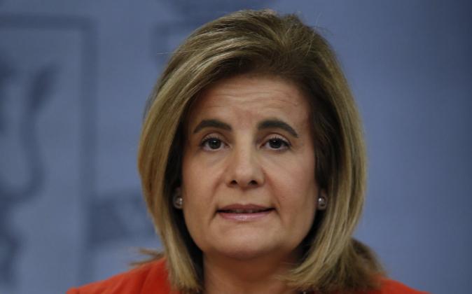La ministra de Empleo y Seguridad Social en funciones, Fátima...