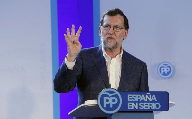 El jefe del Ejecutivo en funciones y presidente del PP Mariano Rajoy.
