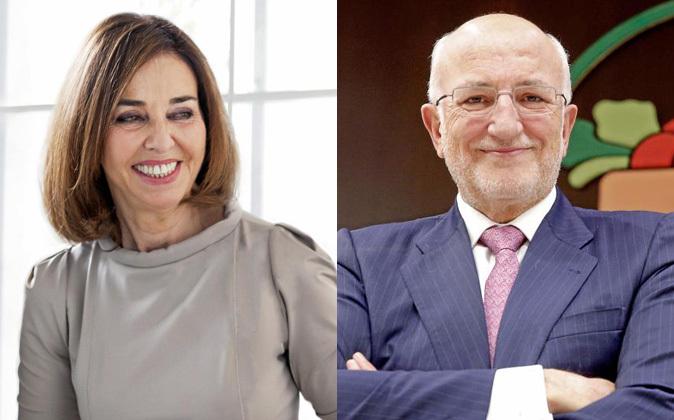 Hortensia Herrero y su marido, Juan Roig, propietarios de Mercadona