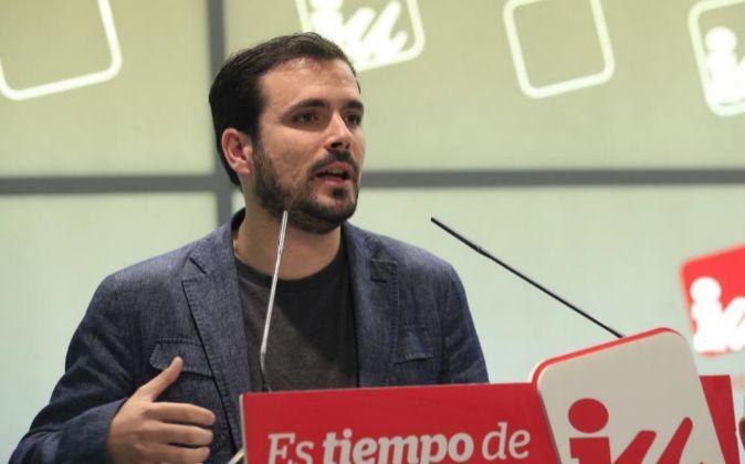 El portavoz parlamentario de IU Alberto Garzón.