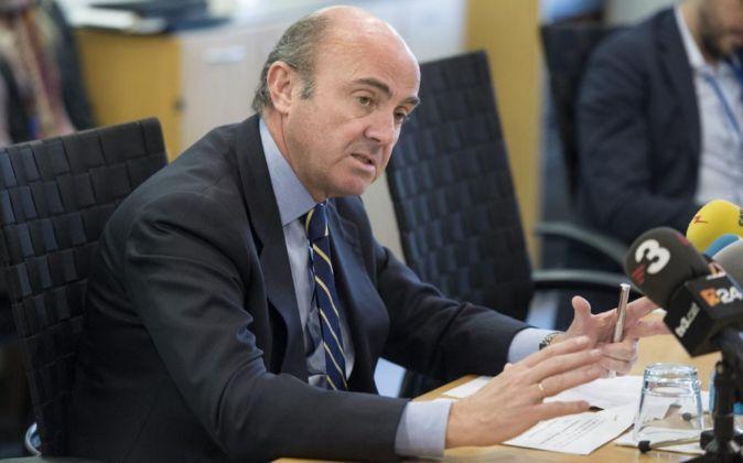 El ministro de Economía en funciones Luis de Guindos.