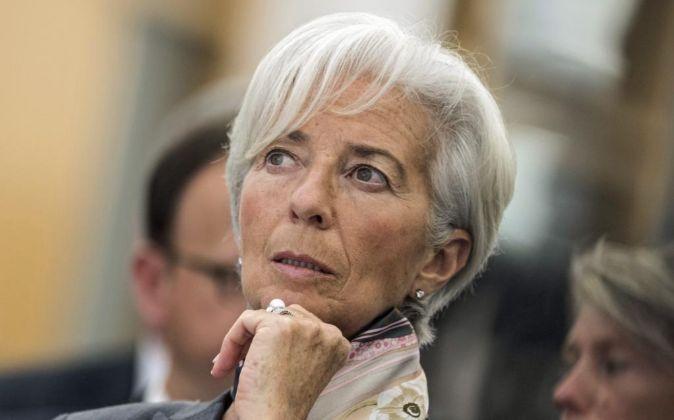 La directora gerente del Fondo Monetario Internacional Christine...