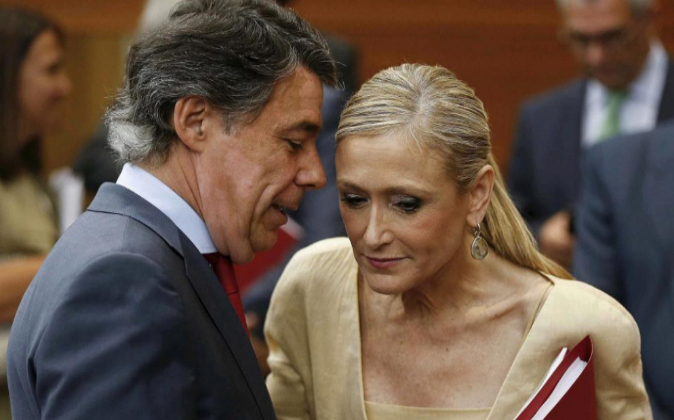 Cristina Cifuentes, cuando era candidata del PP a la Presidencia de la...