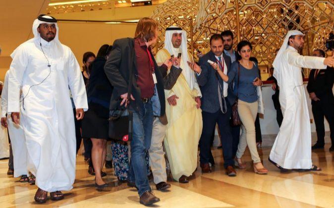 Anas al-Saleh, ministro de petróleo de Kuwait, en Doha.