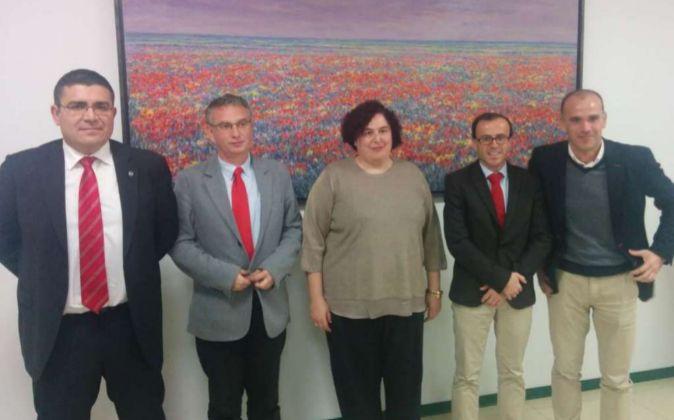 En el acto han estado presentes el alcalde de Don Benito, José Luis...