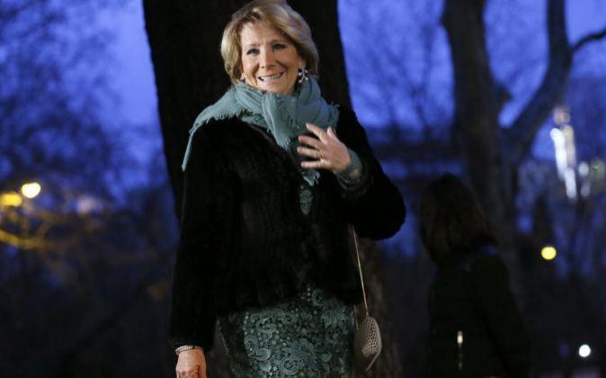 La portavoz popular en el ayuntamiento de Madrid Esperanza Aguirre.
