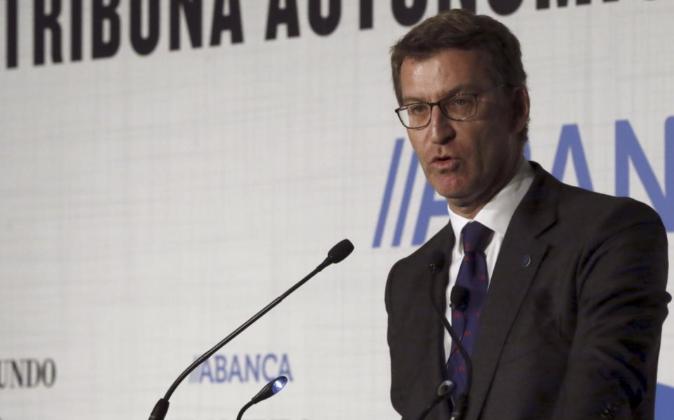 El presidente de la Xunta de Galicia, Alberto Núñez Feijóo, durante...