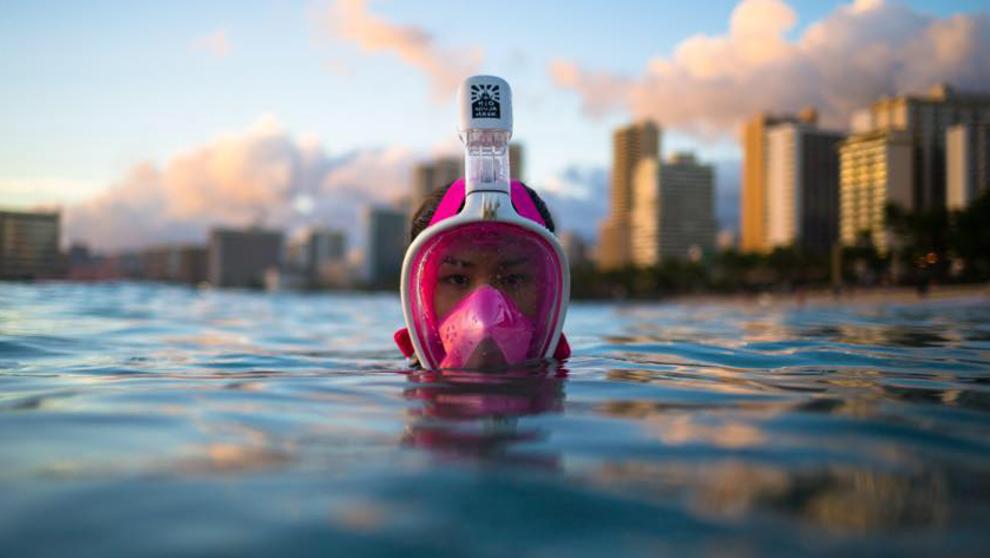 Máscara de snorkel H20 Ninja. Aumenta un 50% el tiempo de inmersión...