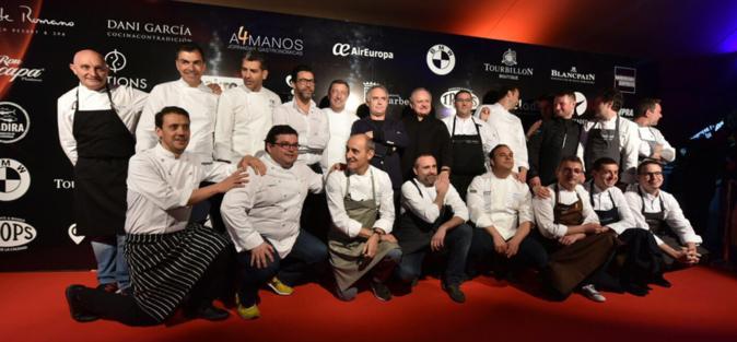 Los chefs que rindieron homenaje a Robuchon incluyen nombres tan...