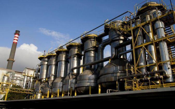 Centro de operaciones de la empresa Ence en Pontevedra.