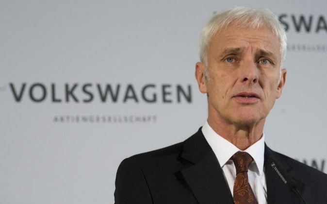 El presidente de la junta directiva Volkswagen, Matthias Müller.