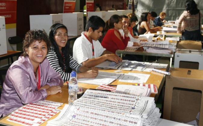 Inmigrantes ecuatorianos residentes en Barcelona. Archivo.