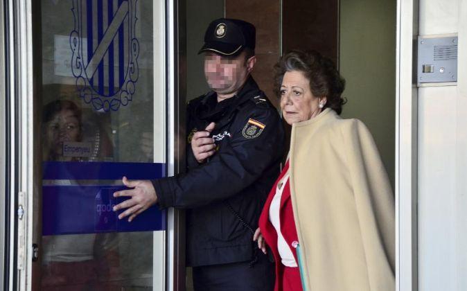 Rita Barberá en su comparecencia en Palma de Mallorca.