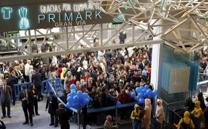 Inauguración del Primark de Gran Vía (Madrid), la tienda de ropa...