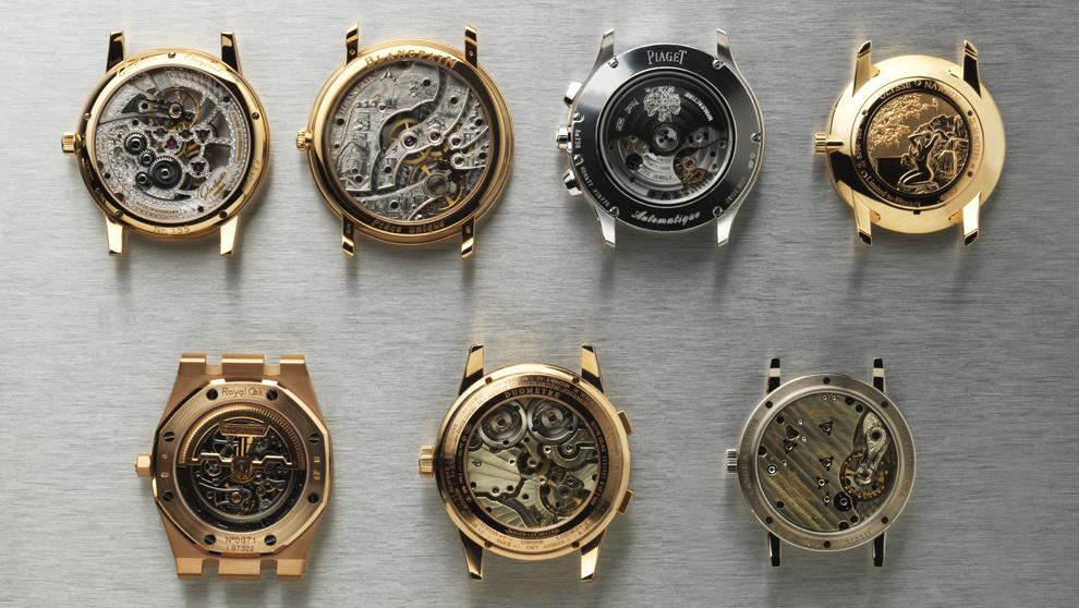 Mecanismos de diferentes relojes.
