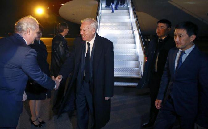 El ministro español de Exteriores, José Manuel García-Margallo, a...