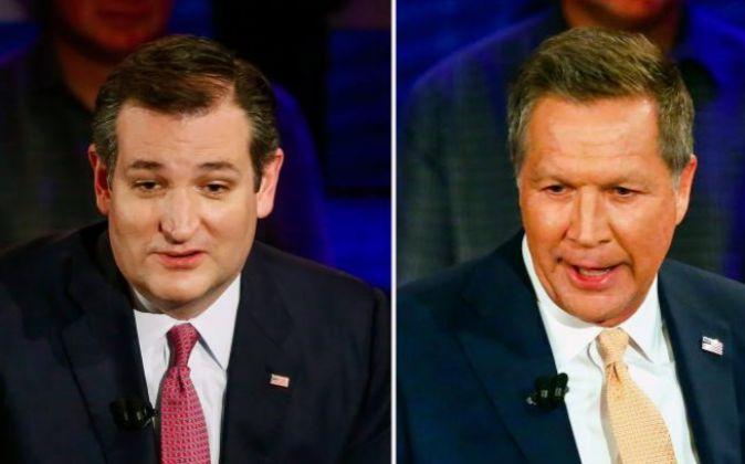 Los precandidatos republicanos a la Presidencia de EE.UU., Ted Cruz...