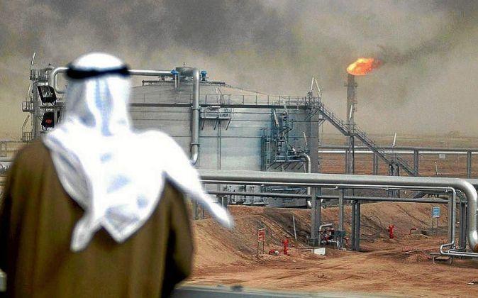 Refinería petrolífera de Arabia Saudí.