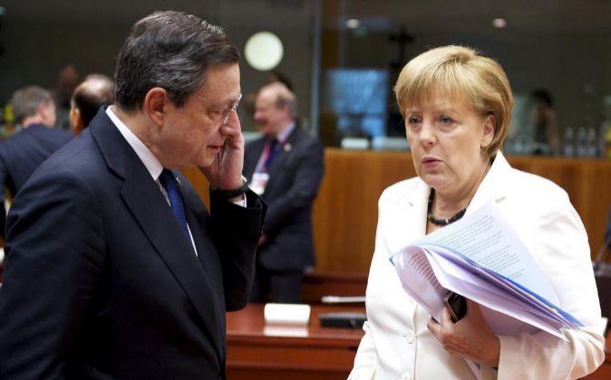 Angela Merkel y Mario Draghi, en una foto de archivo