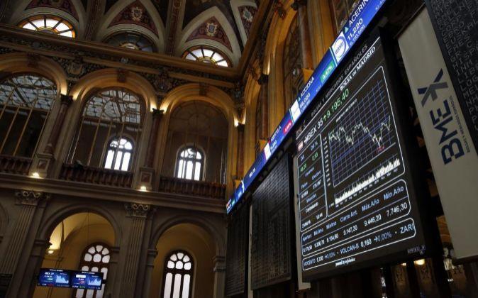 Imagen de la Bolsa de Madrid .