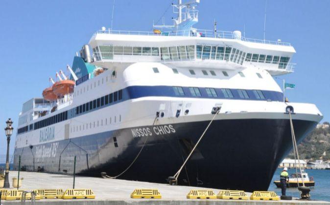El buque Nissos Chios que cubrirá la línea.