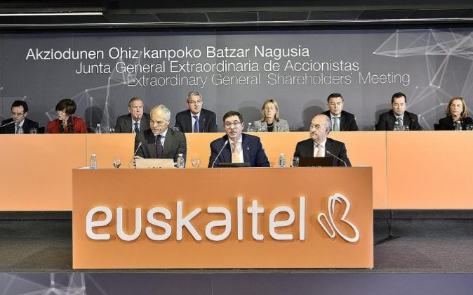 Junta de accionistas de Euskaltel.