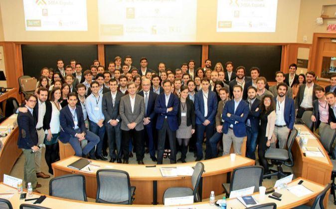 Imagen de los asistentes a la VIII Conferencia MBA España que...