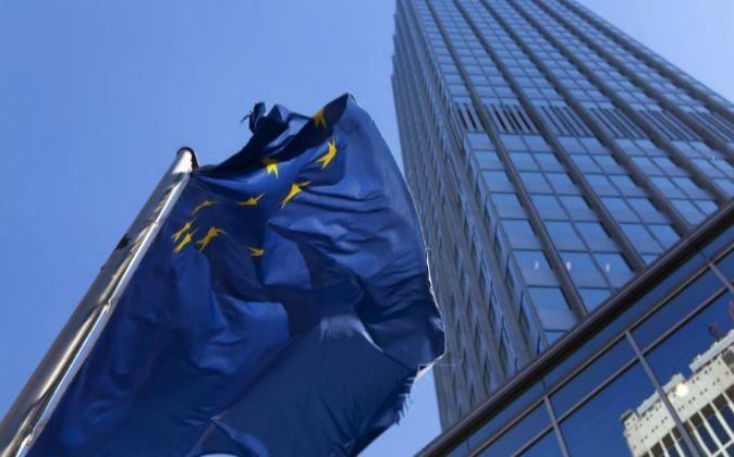 Bandera de la zona euro.